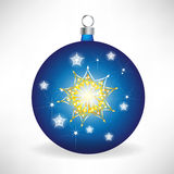 Blue christmas globe Stock Photo