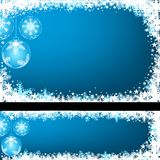 Blue Christmas Greeting Royalty Free Stock Photos