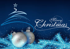 Blue Christmas Greeting Royalty Free Stock Photo