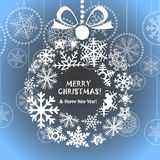 Blue Christmas greeting card Stock Image