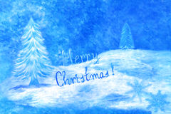 Blue Christmas greeting card Royalty Free Stock Image