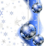 Blue Christmas greeting card Stock Photo