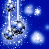 Blue Christmas greeting card Stock Image