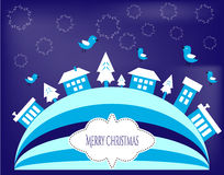 Blue Christmas greeting cards Royalty Free Stock Photo