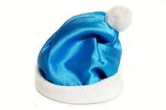 Blue Christmas hat Stock Photos