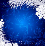 Blue Christmas holiday background Royalty Free Stock Photos