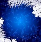 Blue Christmas holiday background Royalty Free Stock Photos