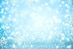 Blue Christmas holiday defocused background Royalty Free Stock Photo