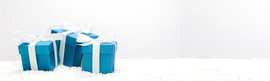 Blue christmas holidays decoration on a white background stock image