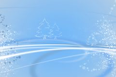 Blue christmas illustration Royalty Free Stock Photo