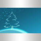 Blue christmas illustration Stock Image
