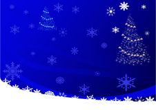 Blue christmas illustration Stock Photos