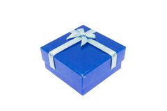 Blue Christmas and Important Festival Gift Box Stock Photography