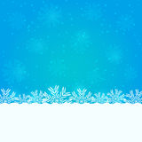 Blue Christmas Invitation Card with Snowflakes Royalty Free Stock Image