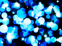 Blue Christmas Light Stock Image