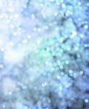 Blue christmas lights Stock Photos