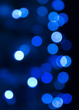 Blue christmas lights Stock Photos
