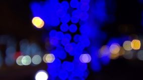 Blue Christmas lights abstract background holiday stock footage