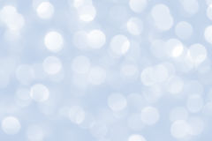 Blue christmas lights background Royalty Free Stock Photography