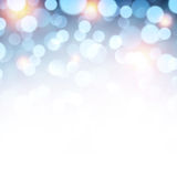 Blue christmas lights background. Royalty Free Stock Images