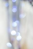 Blue christmas lights background Stock Images