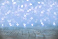 Blue Christmas lights blur Stock Photo
