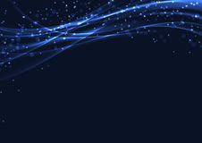 Blue christmas magic abstract glitter background Stock Images