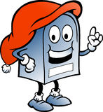 Blue Christmas Mailbox. Hand-drawn Vector illustration of an blue Christmas Mailbox Stock Image