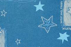 Blue Christmas motive on paper carton with blurry effect Stock Images