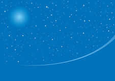 Blue Christmas night. Christmas night background with space for text, vector illustration Stock Photography