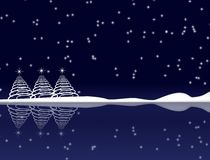 Blue Christmas Night Royalty Free Stock Images