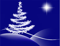 blue christmas night ελεύθερη απεικόνιση δικαιώματος