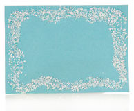 Blue Christmas note card Royalty Free Stock Images