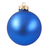 Blue christmas ornament royalty free stock photo