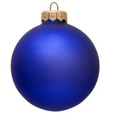 Blue christmas ornament . Isolated over white stock photography