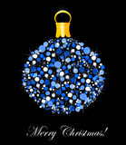 Blue Christmas ornament Stock Photos