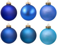 Blue christmas ornament collection. stock image