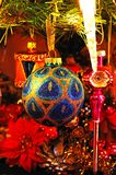 Blue christmas ornament. Stock Images