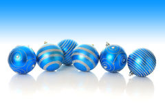 Blue Christmas ornaments. Stock Images