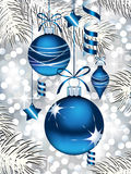 Blue Christmas Ornaments Royalty Free Stock Photo
