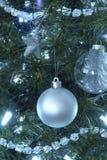 blue christmas ornaments tree xmas Στοκ Φωτογραφία