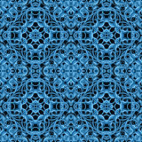 Blue Christmas Pattern with Fantastic Foliage Elements for vario Royalty Free Stock Photography