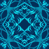 Blue Christmas Pattern with Fantastic Foliage Elements for vario Royalty Free Stock Photos