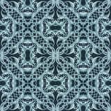 Blue Christmas Pattern with Fantastic Foliage Elements for vario Stock Image