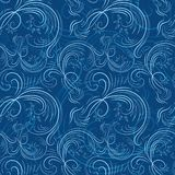 Blue christmas pattern with ice Stock Photography
