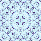 Blue christmas pattern Stock Images