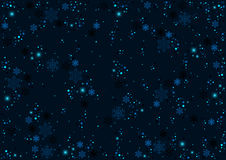 Blue Christmas Pattern with Snowflakes Stock Images