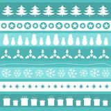 Blue Christmas patterns. Vector illustration Stock Images