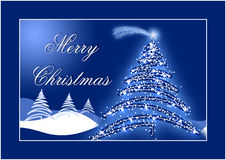 Blue Christmas postcard Stock Photography