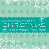Blue Christmas postcard Royalty Free Stock Photos